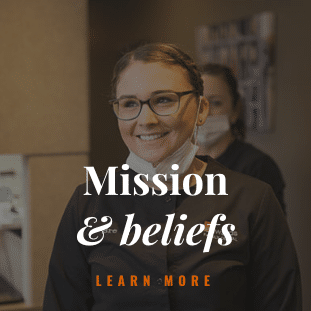 Mission and beliefs button